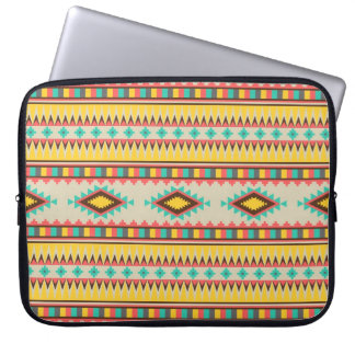 Colorful Aztec Tribal Native American Diamonds Laptop Sleeves