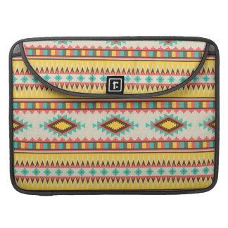 Colorful Aztec Tribal Native American Diamonds MacBook Pro Sleeves