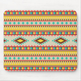 Colorful Aztec Tribal Native American Diamonds Mouse Pad