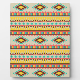 Colorful Aztec Tribal Native American Diamonds Photo Plaques