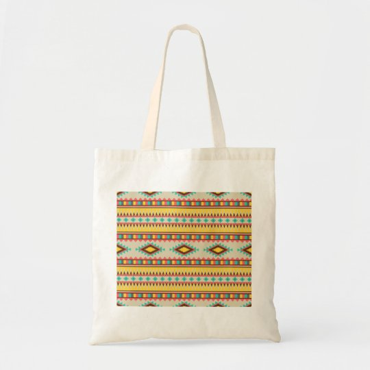 Colorful Aztec Tribal Native American Diamonds Tote Bag