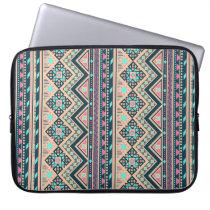 Colorful Aztec Tribal Pattern Laptop Sleeve