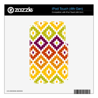 Colorful Aztec Tribal Print Ikat Diamond Pattern Decal For iPod Touch 4G