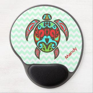 Colorful Aztec Turtle Custom Gel Mouse Pad