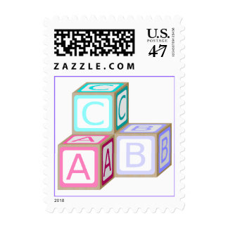 Colorful Baby Blocks Postage Stamp