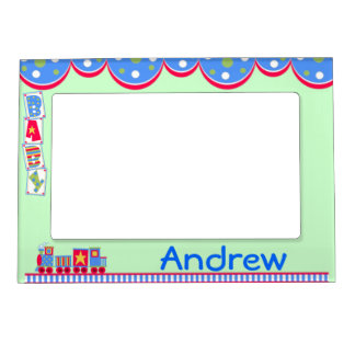 Colorful Baby Boy's Train Magnetic Frame