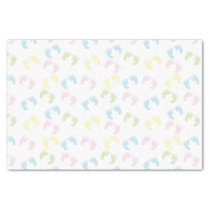 Colorful Baby Foot Prints Tissue Paper