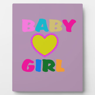Colorful Baby Girl Text Plaque