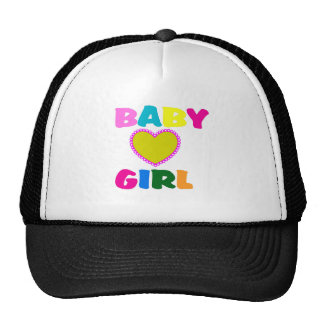Colorful Baby Girl Text Trucker Hat