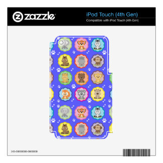 Colorful Baby Pets iPod Touch 4G Skin