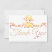 Colorful Baby Sheep / Lamb Thank You Card