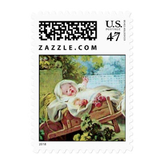 COLORFUL BABY SHOWER POSTAGE STAMP