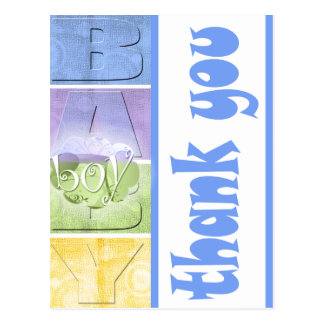Colorful Baby Shower Thank You postcard