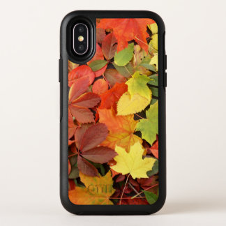 Colorful Background Of Fallen Autumn Leaves OtterBox Symmetry iPhone X Case