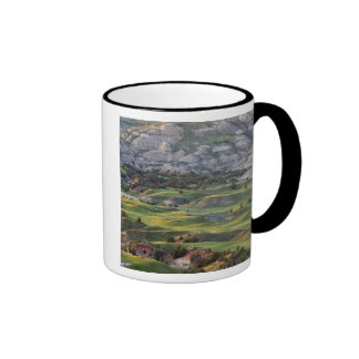 Colorful badlands from Buck Hill overlook in Ringer Coffee Mug