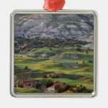 Colorful badlands from Buck Hill overlook in Christmas Tree Ornament