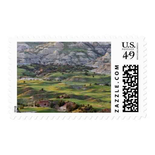 Colorful badlands from Buck Hill overlook in Postage Stamp