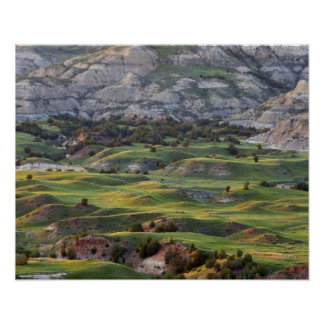 Colorful badlands from Buck Hill overlook in Poster