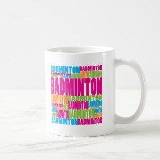 Colorful Badminton Coffee Mug