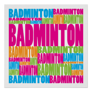 Colorful Badminton Poster