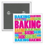 Colorful Baking Pinback Button