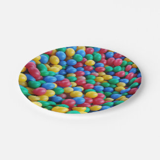 Colorful Ball Pit Balls Kids Play Paper Plate