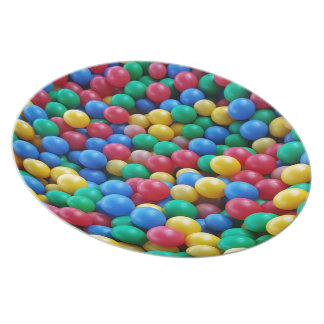Colorful Ball Pit Balls Kids Play Plate
