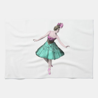 Colorful Ballerina Kitchen Towels