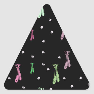 Colorful Ballet Pattern Triangle Sticker