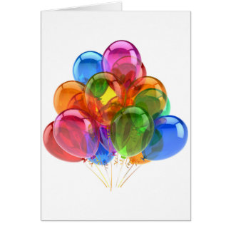 Colorful Ballons Greeting Card