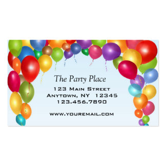 Colorful Balloon Arch Business Card Template