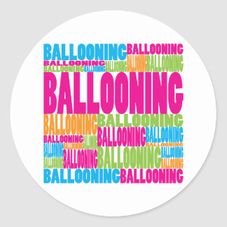 Colorful Ballooning Classic Round Sticker