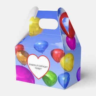 COLORFUL BALLOONS BIRTHDAY CELEBRATION FAVORS FAVOR BOX