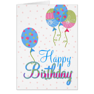 Colorful Balloons Birthday Greeting Card