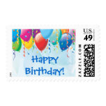 Colorful Balloons Birthday Party Stamp