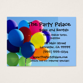 Colorful Balloons Business Card