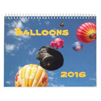 Colorful Balloons Calendar