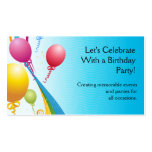Colorful Balloons | Curly Ribbons Business Card Templates
