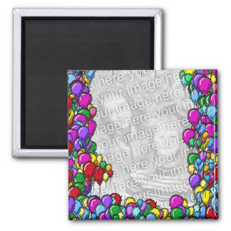 Colorful Balloons Design Photo Magnet