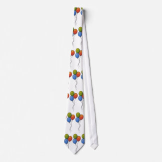 Colorful Balloons: Freehand Marker Art Neck Tie