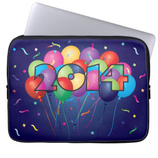 Colorful Balloons in 2014 Numeral Laptop Sleeve