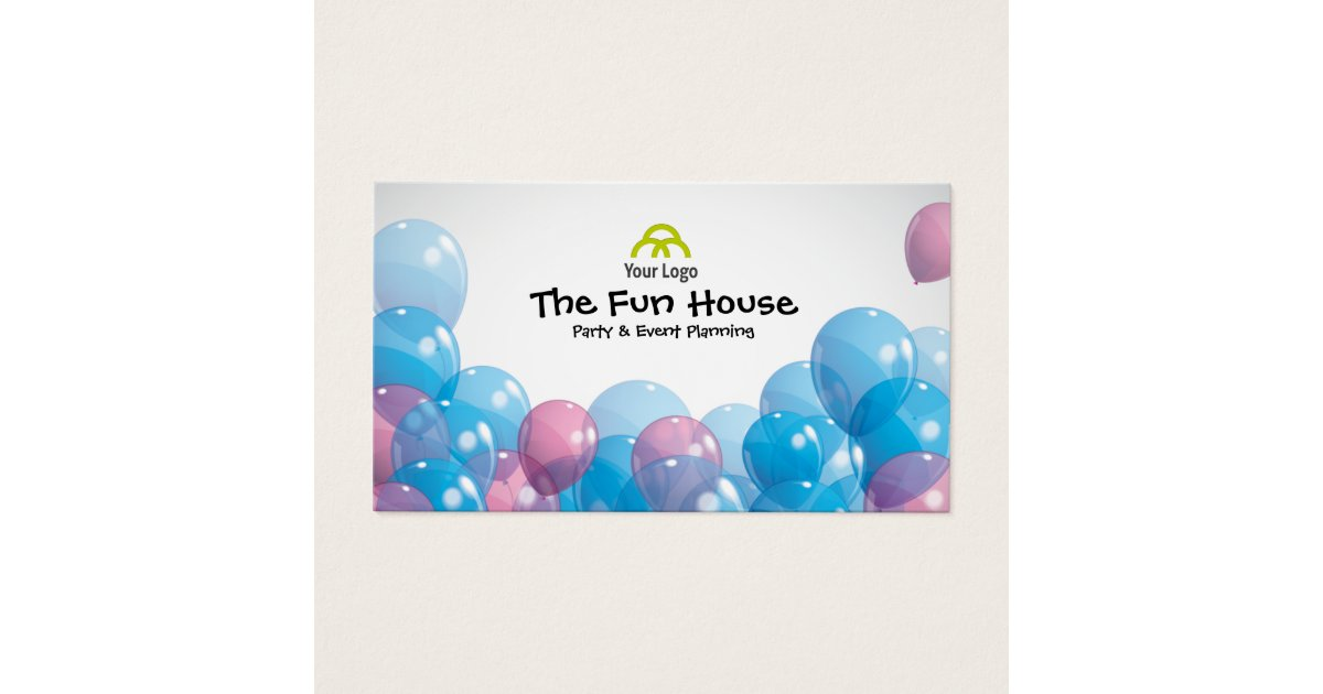 Colorful Balloons Party Planner Business Card | Zazzle.com