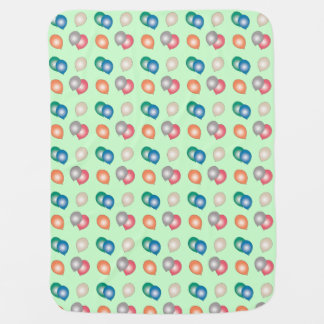 Colorful Balloons Patterned Baby Blanket