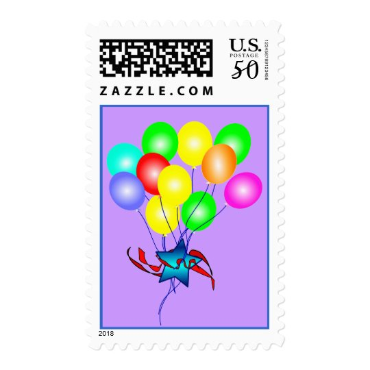 Colorful Balloons Postage Stamps
