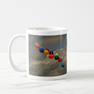 Colorful Balloons-Purple, Pink, Blue, Red, Yellow Coffee Mug