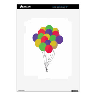 Colorful Balloons Decals For The iPad 2
