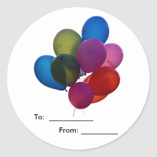 colorful balloons, Stickers  Zazzle