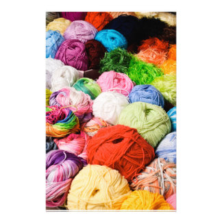 Colorful Balls of Yarn Customized Stationery