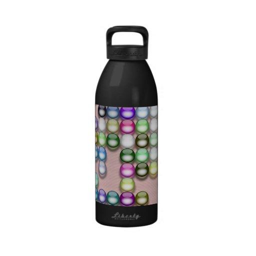 Colorful balls reusable water bottles