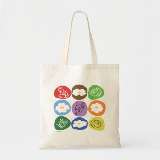 Colorful Bambi, Flower, & Thumper Tote Bag